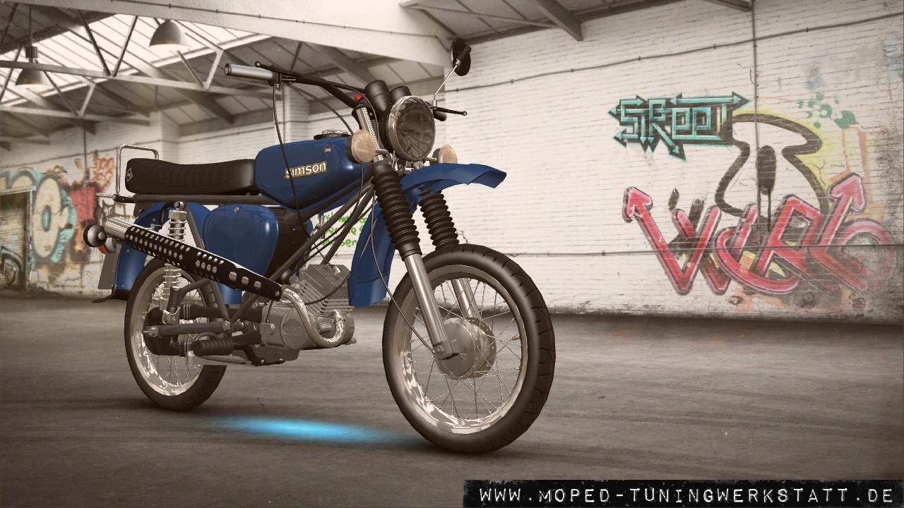S51 E Metallic blau