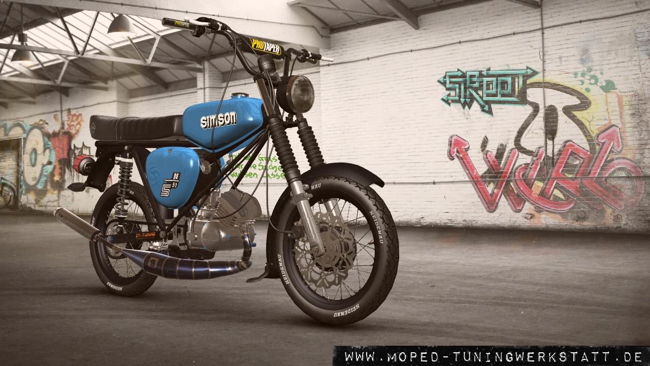 S51 Adler Titan blau